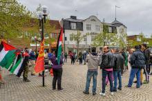 Palestinamanifestation på Torget