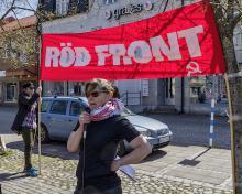 Erika Ström (k), Röd front 2018 i Nybro